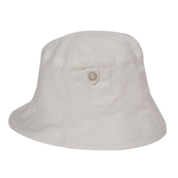 Linen Bucket Hat White Tartine et Chocolat Fashion Baby 6affd1a7856