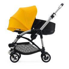 product-Bugaboo BEE5 Complete Convertible Pushchair with Aluminium Frame, Black Seat and Black Carrycot