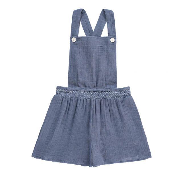 1cc9584293 Cotton Gauze Playsuit Earthenware Blue Hundred Pieces Fashion