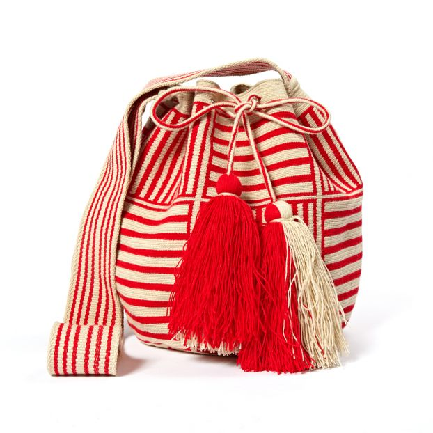 Big Wayuu Square Bucket Bag Red Guanabana Fashion Adult 5a94bd72a0224