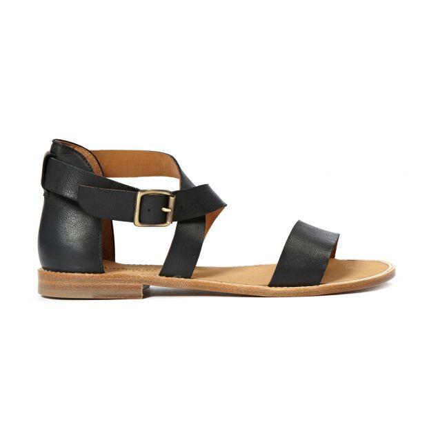 Sandales Cuir Sauvage Bento Noir