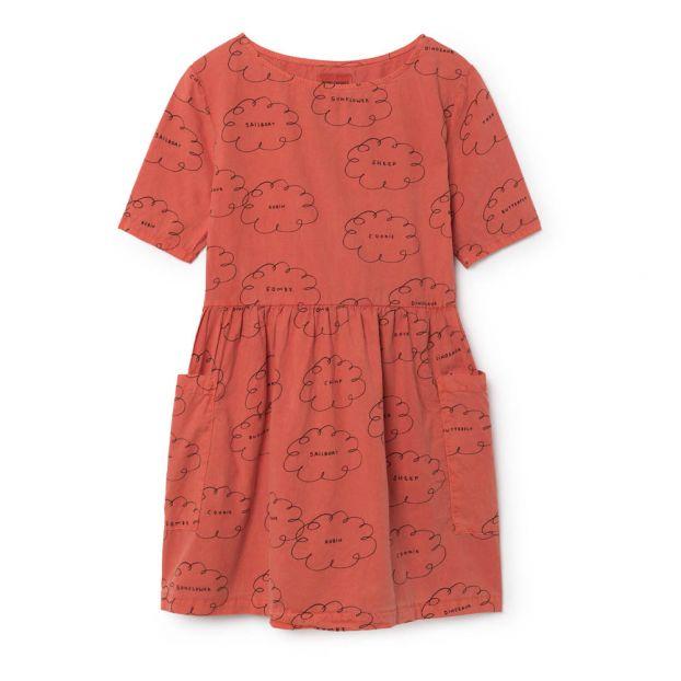 111528be0b9 Cloud Organic Cotton Pocket Dress Raspberry red Bobo Choses