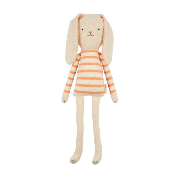 a5ae6d6486fcd Doudou lapin rayé en tricot Meri Meri Jouet et Loisir Enfant