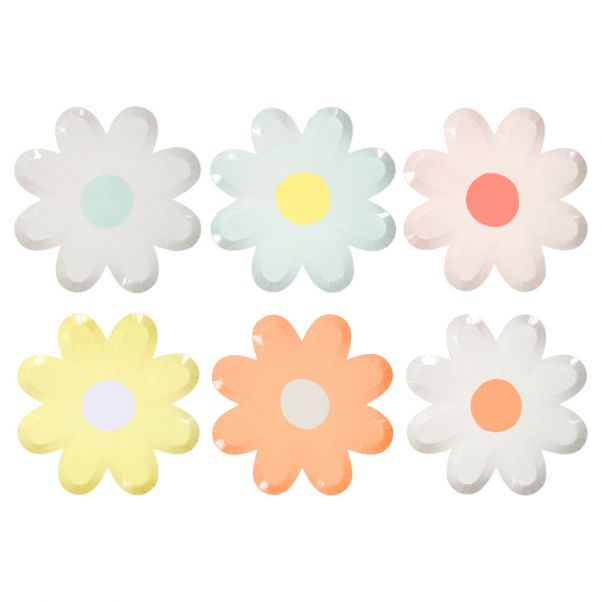 Daisy Paper Plates Set Of 12 Meri Meri Design Children