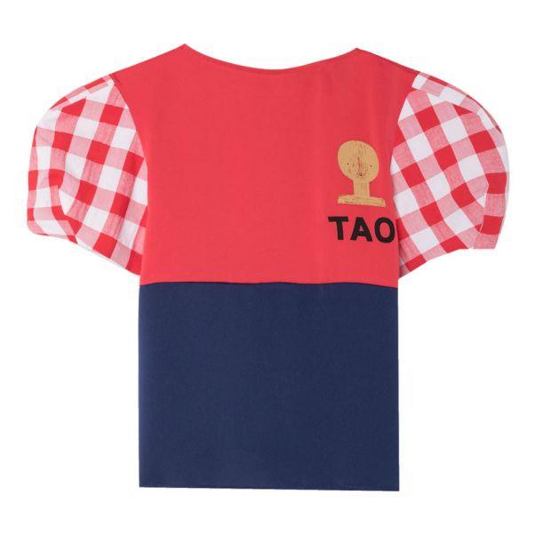 T Buste Tao Satin la Canard shirt Rouge Animaux Mode de Observatoire nn6PSxT