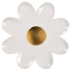 product-Meri Meri Daisy Paper Plates - Set of 8