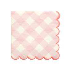 product-Meri Meri Gingham Paper Napkins - Set of 20