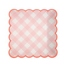 product-Meri Meri Gingham Paper Plates - Set of 12