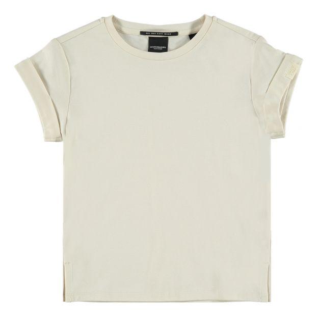 8e594d0e5b7 T-Shirt Uni Blanc cassé Scotch   Soda Mode Adolescent