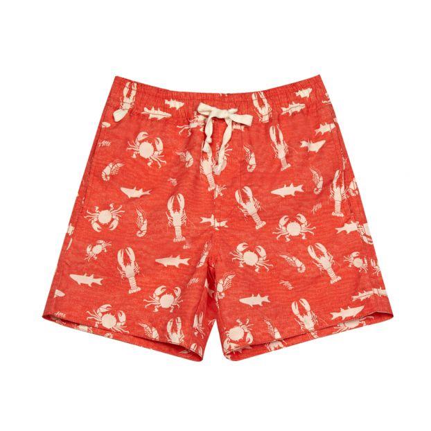 ec8c556da4bd7 Lobster Swim Shorts Red AO76 Fashion Teen , Children
