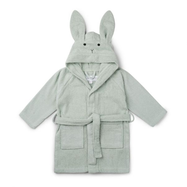 Lily Rabbit Organic Cotton Sweat Dressing Gown Green Liewood