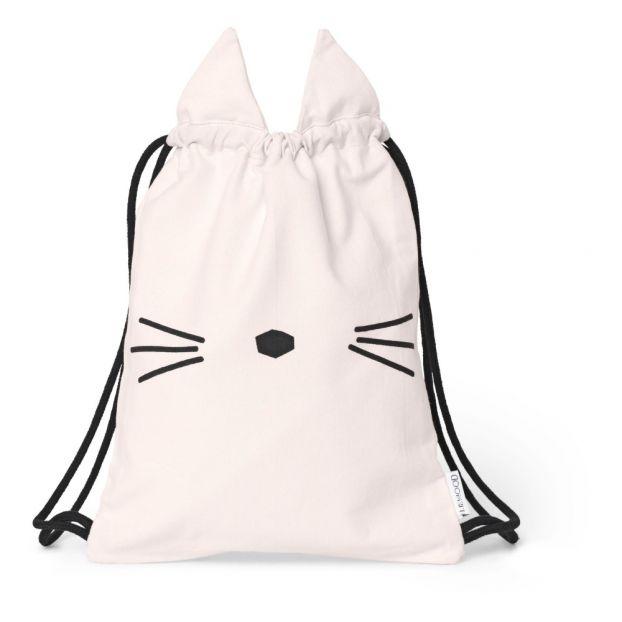 2a186bc19e Organic Cotton Cat Gym Bag Pink Liewood Design Children