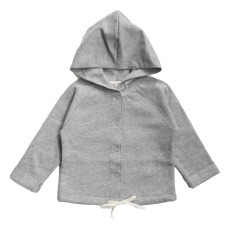product-Gray Label Organic Cotton Hooded Cardigan