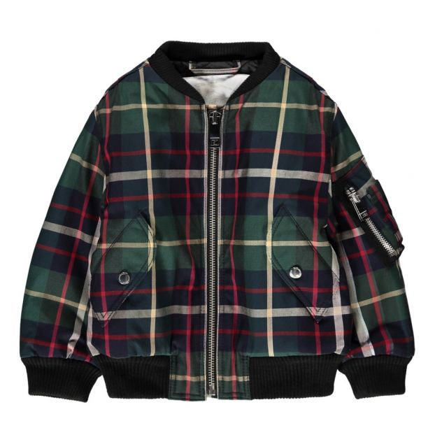 ff81ba4d9 Nathanal Tartan Bomber Jacket Chrome green Burberry Fashion Baby