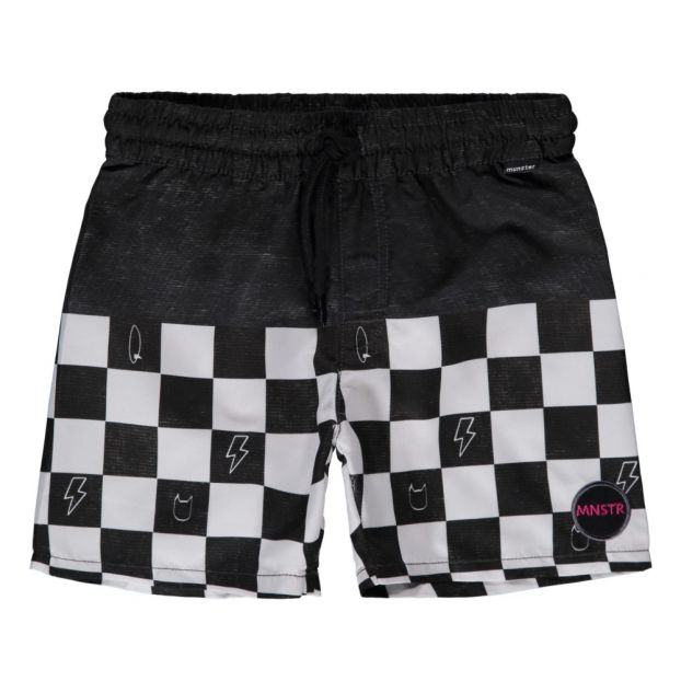 af11f68afc Wall Ride Checkerboard Swim Shorts Black Munsterkids Fashion