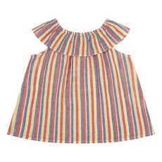 product-Bonton Légèreté Striped Ruffle Top