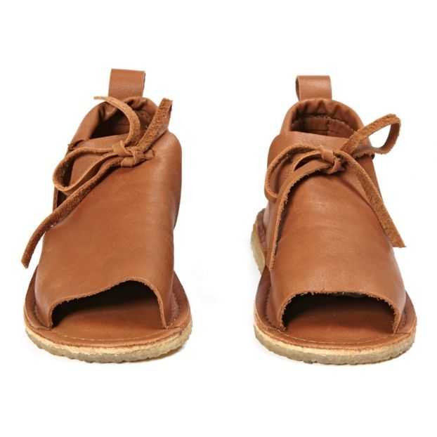 2b26d0889d184 Summer Leather Sandals Caramel Birds of Nature Shoes Baby