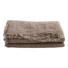 product-Maison de vacances Vice Versa Washed Linen Gauze Fringed Plaid