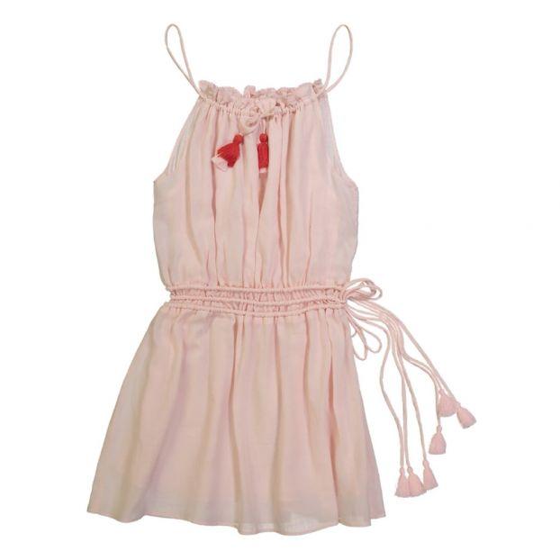 16363c10223d4 Robe Pompons Moorea Rose pâle Lison Paris Mode Enfant