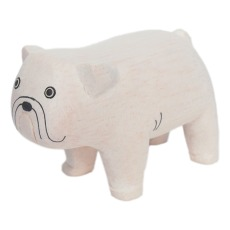 product-T-Lab Figurine en bois Bouledogue