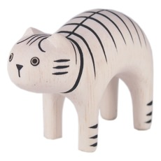 product-T-Lab Tiger Cat Wooden Figurine