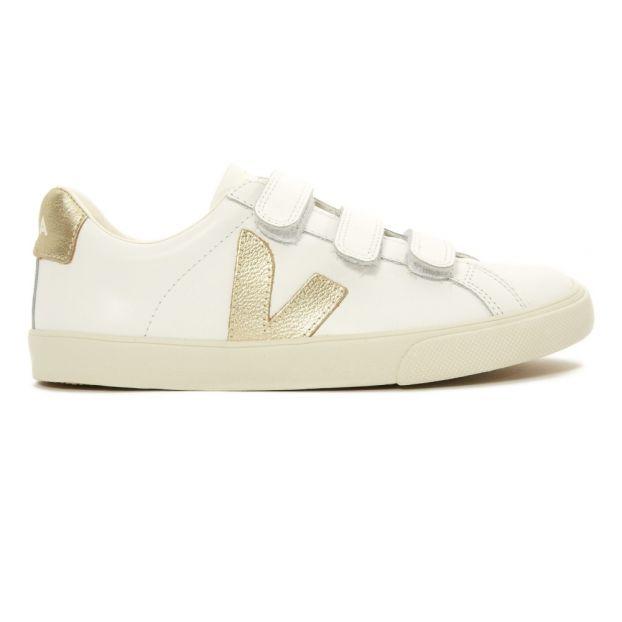 mediodía Te mejorarás curso  Zapatillas velcro 2 colores piel 3-Lock Dorado Veja Calzado