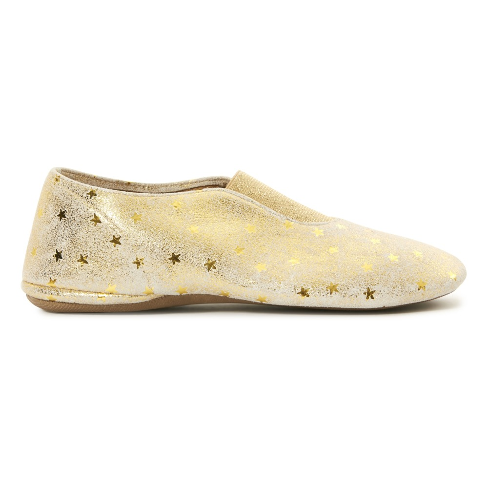 19c8ee5d7cab55 Zapatillas gimnasia rítmica Estrellas Dorado Pèpè Calzado