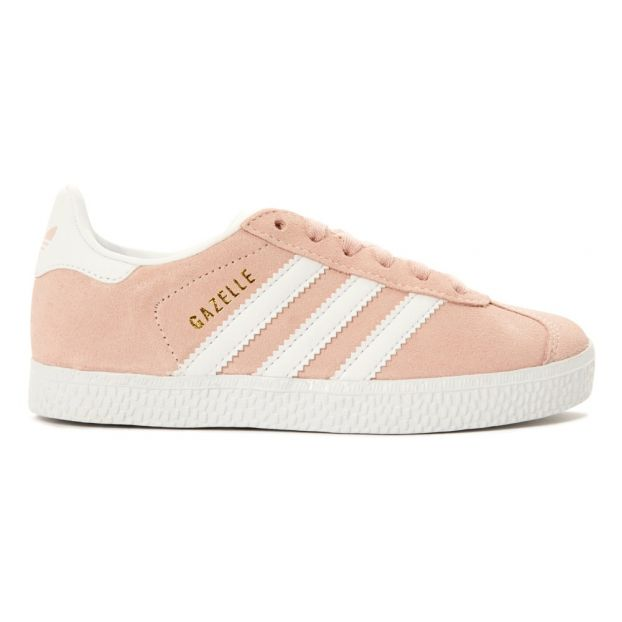 82adc721671 Gazelle Lace-Up Suede Trainers Pink Adidas Shoes Teen