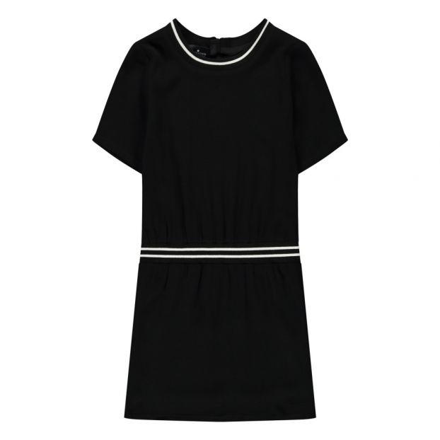 4198cc1906e Robe Ceinture Elastique Kate Noir Little Remix Mode Adolescent