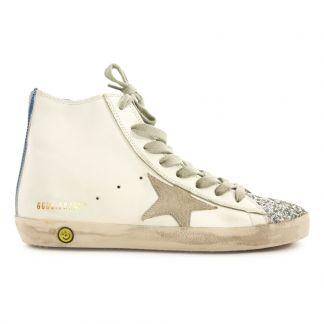 Suède Goose Golden Jean Bleu Montantes Francy Deluxe Baskets 18qw4HY