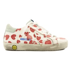 product-Golden Goose Deluxe Brand Superstar Heart Leather Low Top Trainers