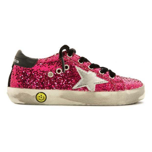 comprare popolare 96ac0 2bfd5 Sneakers glitter con stella argentata Fuscia
