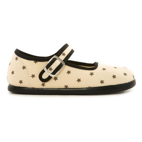 f1b6a875ca758f Jane Star Slippers Ecru Bonton Shoes Baby