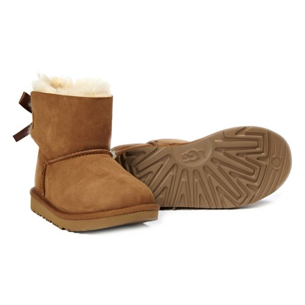mini bailey bow ii fur lined suede bow boots camel ugg shoes teen rh en smallable com