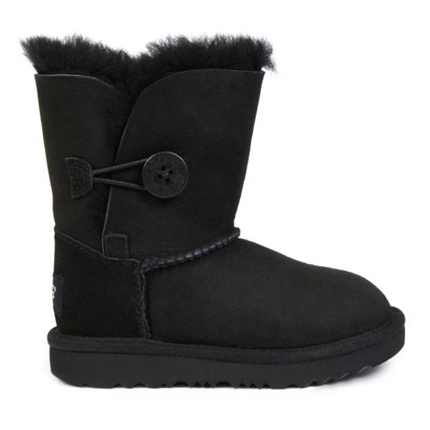 a47335f26e6 Bailey Button II Fur Lined Suede Boots Black Ugg Shoes Teen ,