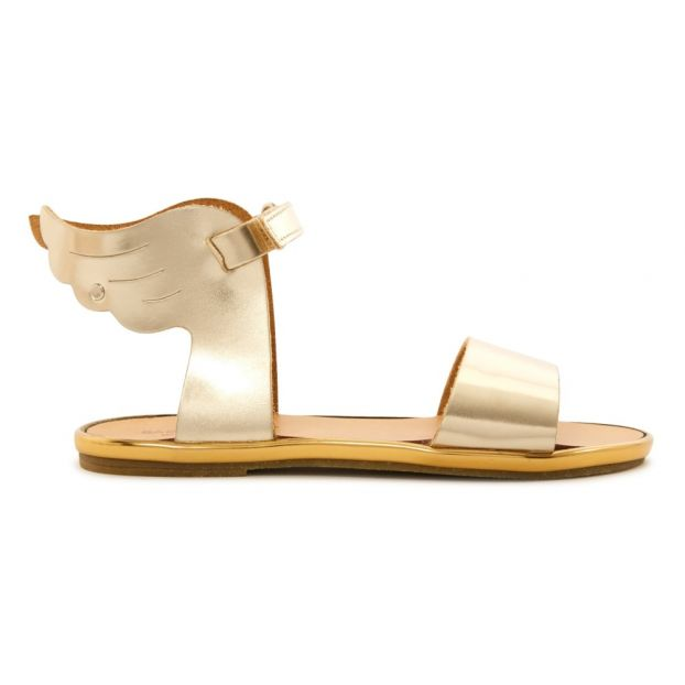 65e0961226af Metallic Wing Sandals Gold Babywalker Shoes Baby