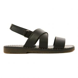 Cruzadas Tiras Velcro Sandalias Negro nOvmN8w0y