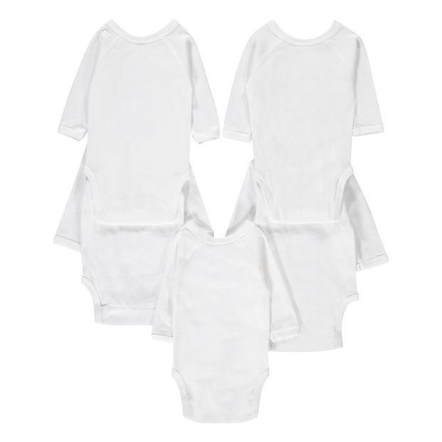 55ca36bb04bff Lot de 5 bodies naissance manches longues bébé mixte-product