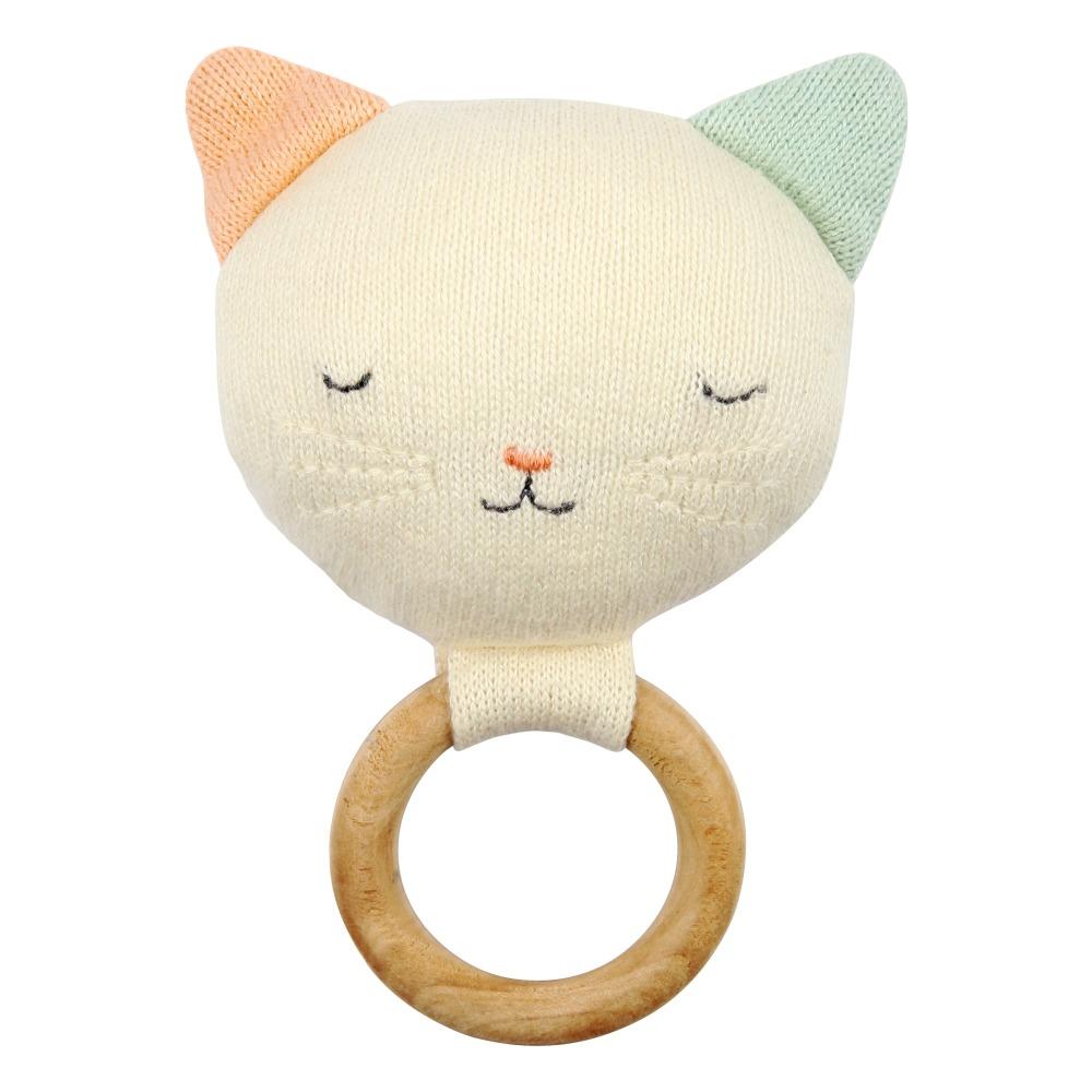 3ea02fa53 Sonajero Gato de algodón orgánico Meri Meri Juguetes y Hobby. «