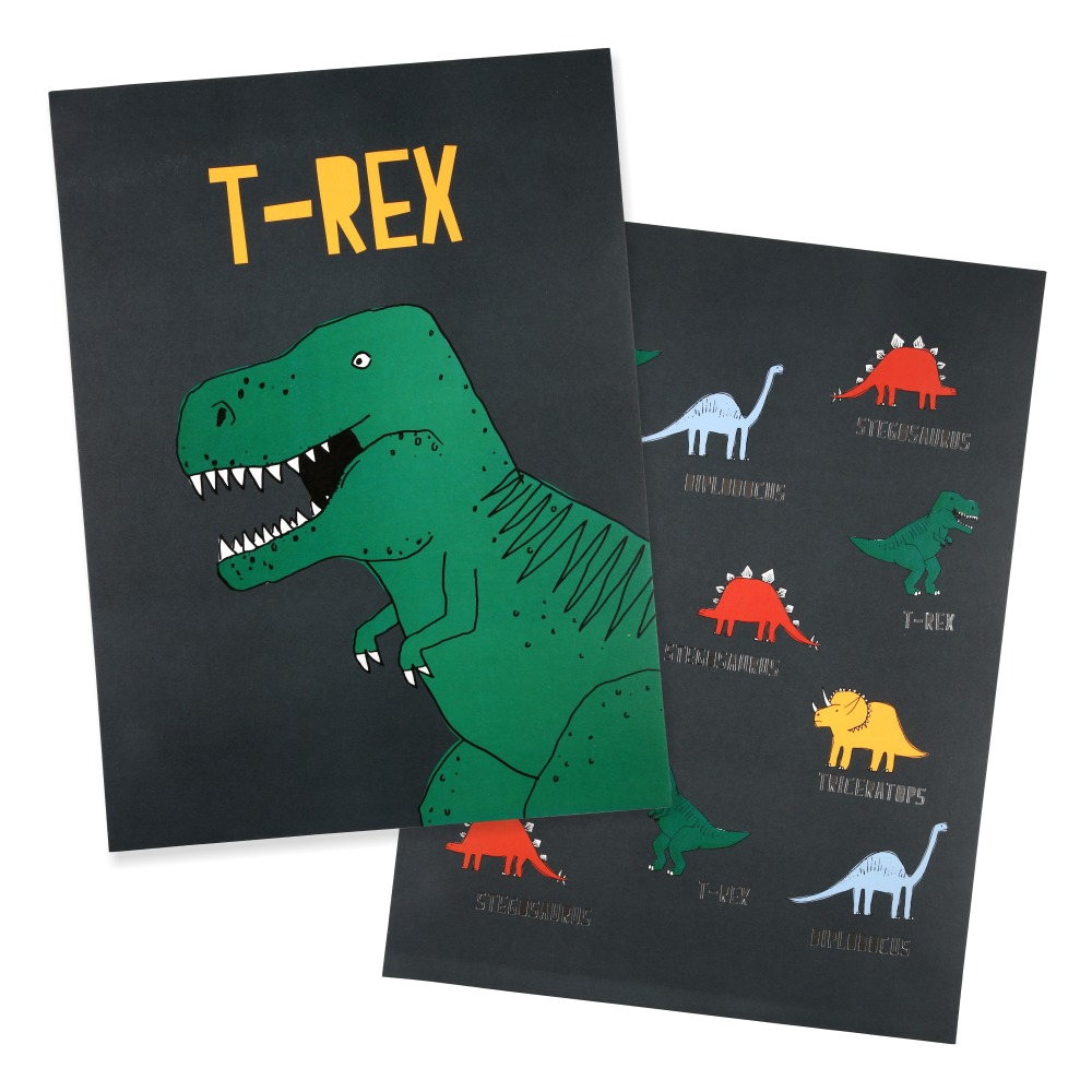 Poster Dinosaurier 2er-Pack Must-Have, Posting 3781