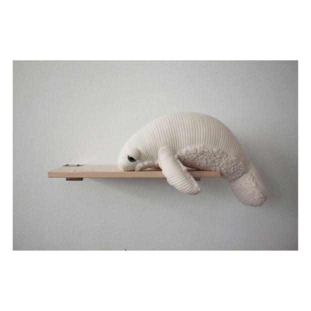 Albino Manatee Soft Toy 48cm White Bigstuffed Toys and Hobbies