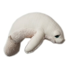 product-Bigstuffed Albino Manatee Soft Toy 48cm