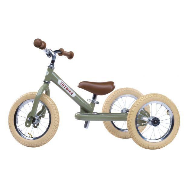 Bici Senza Pedali Triciclo Verde Trybike Giocattoli E Hobby