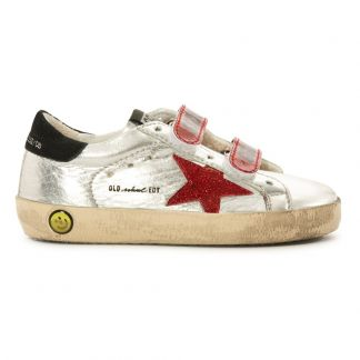 Golden Goose Deluxe Brand Baskets Basses Cuir Scratchs Etoile Glitter Superstar Old School-product