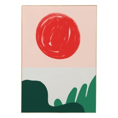 product-Mathilde Cabanas Affiche Red Sun