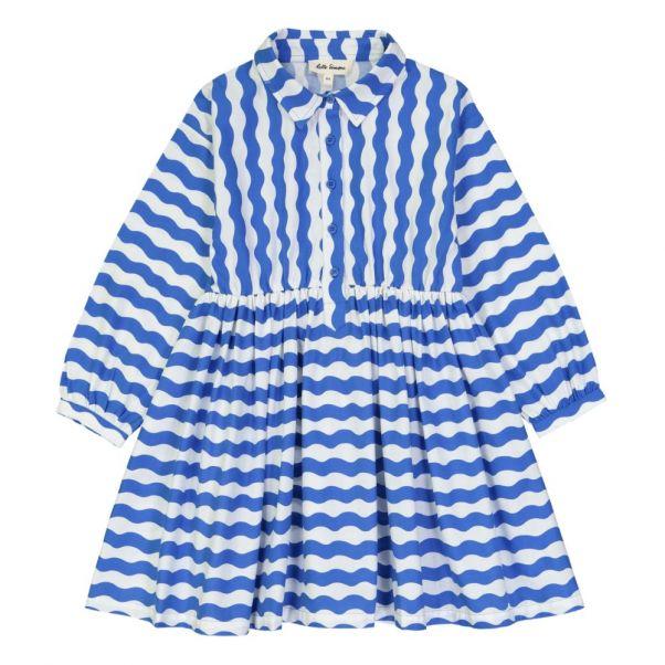 Robe Chemise Vagues Nephtys Bleu électrique Hello Simone Mode f499eab9e398