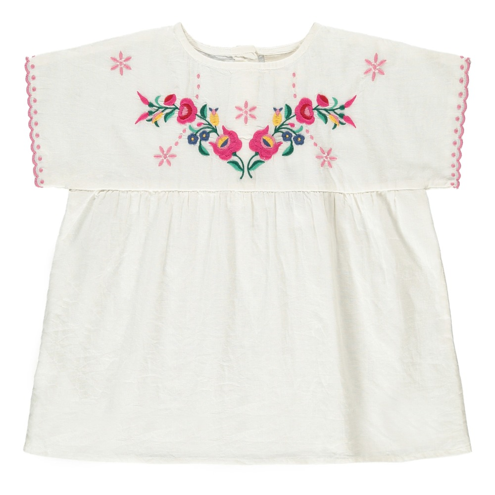 Reglisse Embroidered Flower Blouse White Louis Louise Fashion
