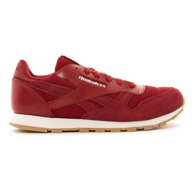 Classic Leather Essentails Suede Trainers Burgundy Reebok Shoes 5a9a8f7d7