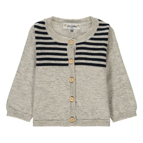 2179e3b17 Colette Striped Cardigan Heather grey Les lutins Fashion Baby
