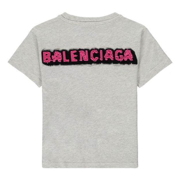 70cf1a29 Patch Back T-Shirt Heather grey Balenciaga Fashion Children